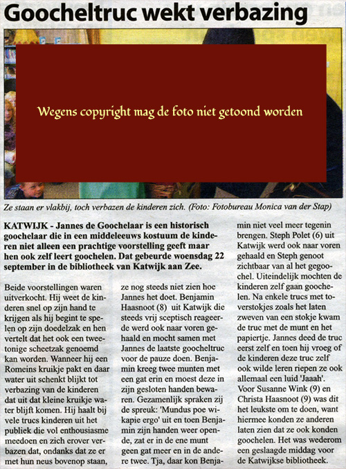 krantenbericht Katwijk 2010