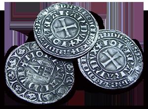 14e eeuwse munten