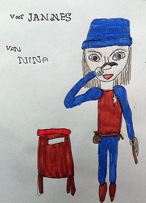 tekening van Nina