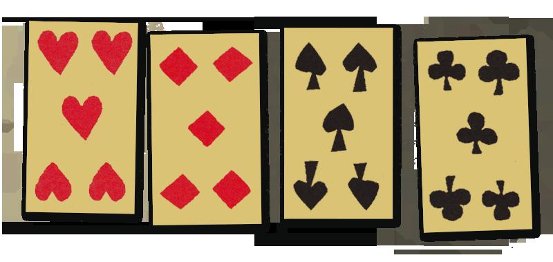 Vier vijven beginpositie